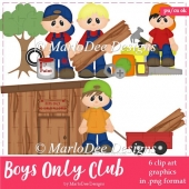 Boys Only Club Clip Art Collection