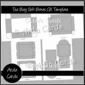 Teabag Gift Boxes CU Templates