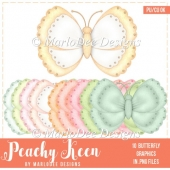 Peachy Keen Cute Butterfly Graphics