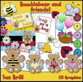 Bumblebear And Friends CU Clipart