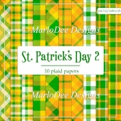 St. Patrick's Day Colors 2 - Plaid Pattern Papers 1