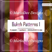 Colorful Bokeh Pattern Digital Paper Pack