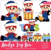 Andys Toy Box - Raggedy Andy Clip Art Collection