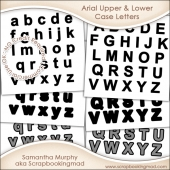 Arial Upper & Lower Case Letters - CU OK