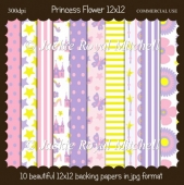 Princess Flower 12x12 Papers