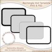 Rectangle Mat Templates PNG & PSD - CU OK