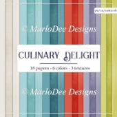 Culinary Delight Card Stock Digital Papers {A4 size}