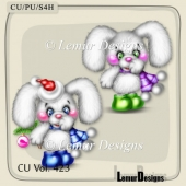 CU Vol. 423 Christmas Bunny by Lemur Designs