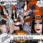 SEXY WITCH TUBE POSER PACK - CU