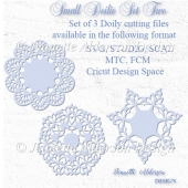 Set of 3 small doilies cutting files