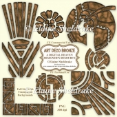 Art Deco Bronze - Set One - Designer Resource For CU & PU - PNG