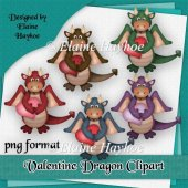 Valentine Dragons Clipart
