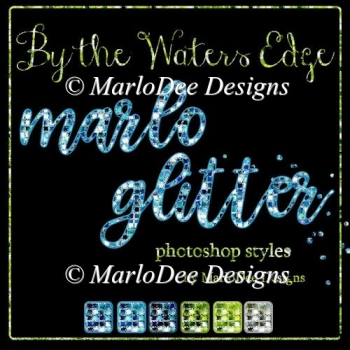 By the Waters Edge Marlo Glitter Photoshop Styles