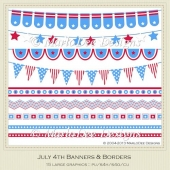 July 4th Banners & Borders by MarloDee Designs