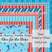 One For The Boys Digital Backing Papers
