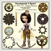 Steampunk Set One - CU - PNG Clipart - Designer Resource Kit