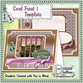 EDR Card Front Layered Template 1