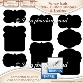 Fancy Mat Templates - PNG - Custom Shapes .CSH - Brushes .ABR