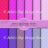 Embossed Digital Cardstock Pack Pinks/Purples
