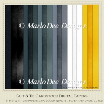 Suit & Tie A4 size Card Stock Digital Papers Package