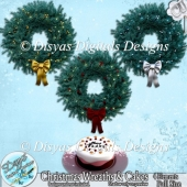 CHRISTMAS WREATHS AND CAKE CU PACK - FULL SIZE