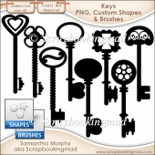 Key Templates - PNG - Custom Shapes .CSH - Brushes .ABR