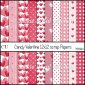 Candy Valentine 12x12 Scrap papers