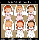 First Holy Communion girls