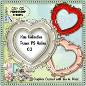 New Valentine Frame PS Action CU