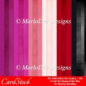 Pop Chic A4 size Card Stock Digital Papers Package