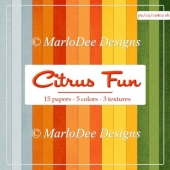 Citrus Fun Cardstock A4 Size Backgrounds by MarloDee Designs