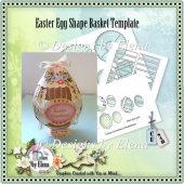 Easter Egg Shape Basket Template