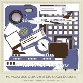 He Vacations Clip Art by MarloDee Designs