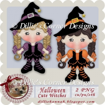 Halloween Cute Witches