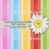 Soft Feelings Card Stock Digital Papers