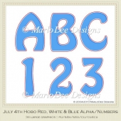 Red, White & Blue Hobo Style Alphas & Numbers