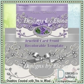 Jeweled Card Front Recolorable Template