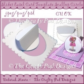Slider Easel Card Template Scallop Circle