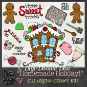 Christmas - Gingerbread - CU clipart