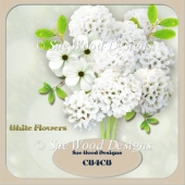 Designer Resource White Flowers CU4CU