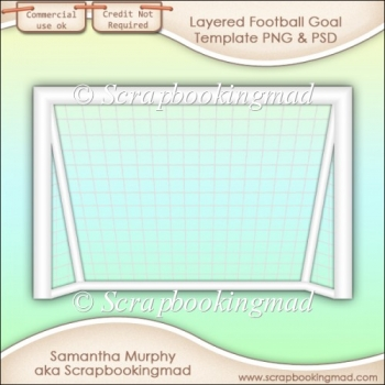 Layered Football Goal Template PNG & PSD - CU OK