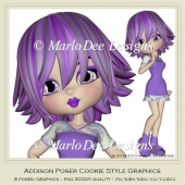 Addison Poser Cookie Graphics by MarloDee Designs