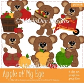 Apple of My Eye - Teddy Bear Clip Art Collection