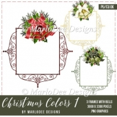 Christmas Frame with Holiday Bells Graphics | Christmas Colors 1