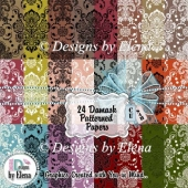 Damask Patterned Papers