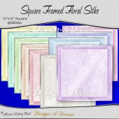 Square Framed Floral Silks
