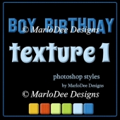 Boy Birthday Texture Photoshop Styles by MarloDee Designs