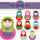 Matryoshka Doll Clipart Set