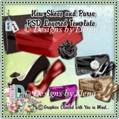 New Shoes and Purse PSD Layered Template