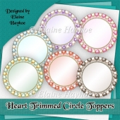 Heart Trimmed Circle Toppers